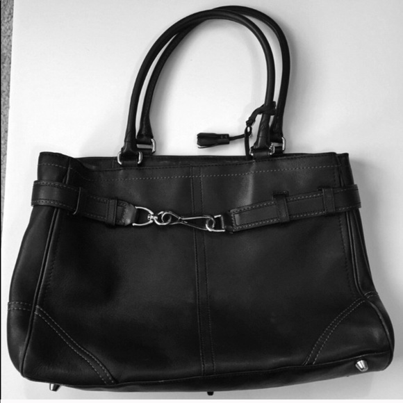 Coach Handbags - COACH Black Hamptons Carryall Tote 2005